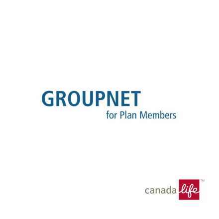 GroupNet for Plan Members, Canada Life